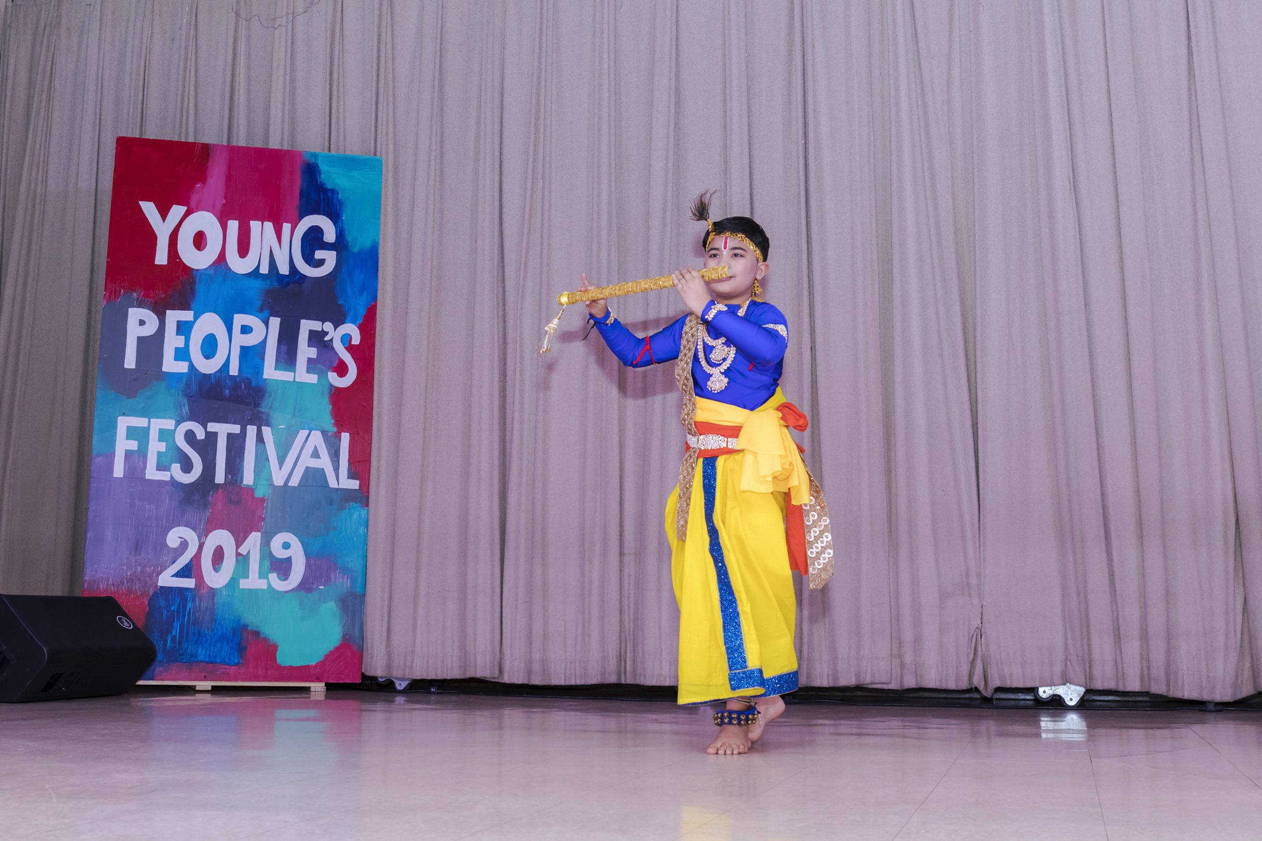 A young performer at the Young People's Festival 2019