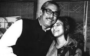 Bangabandhu with his daughter Sheikh Hasina